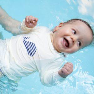 t-shirt bébé piscine