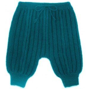 Sarouel pantalon laine 100% mérinos bleu canard