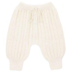 Sarouel pantalon laine 100% mérinos ivoire