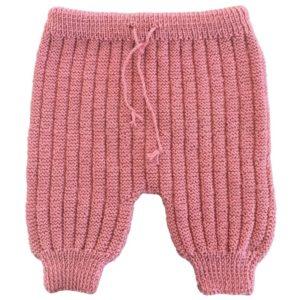 Sarouel pantalon laine 100% mérinos vieux rose